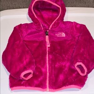 The North Face pink fleece jacket 6-12 months
